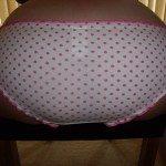 used panties pink spots