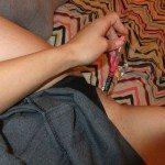used panties best friend dressed as school girl 07