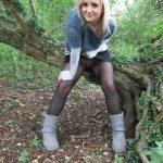 used panties best friend in the woods 02