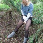 used panties best friend in the woods 09