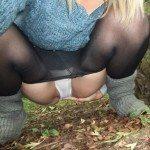 used panties best friend in the woods 23