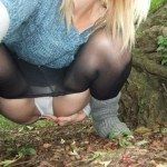 used panties best friend in the woods 24