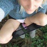 used panties best friend in the woods 44