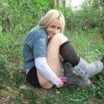 used panties best friend in the woods 55