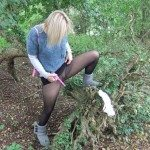 used panties best friend in the woods 62