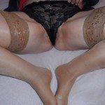 used panties tan stockings 01