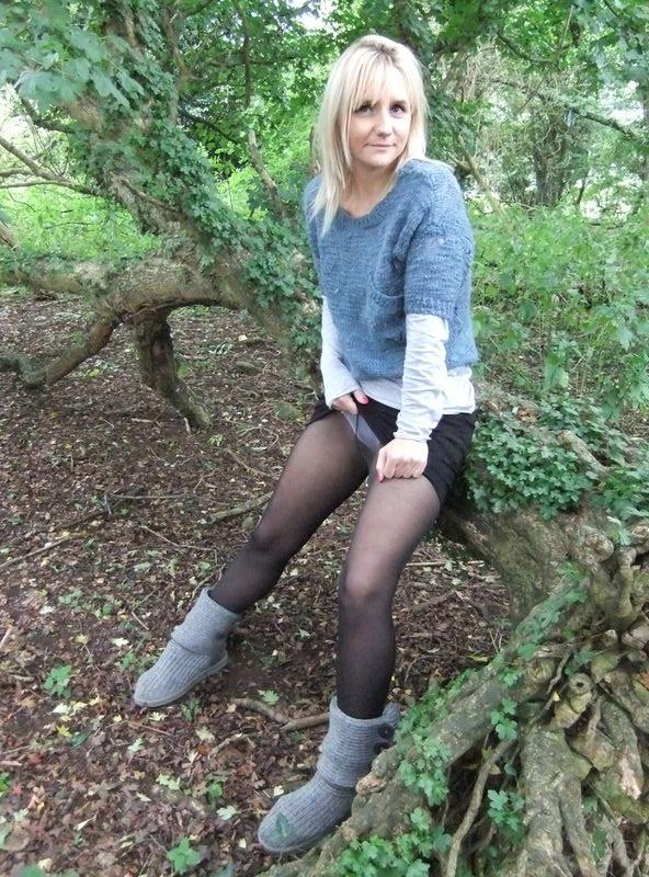 used panties best friend in the woods 03