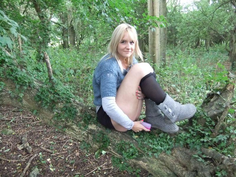 used panties best friend in the woods 51