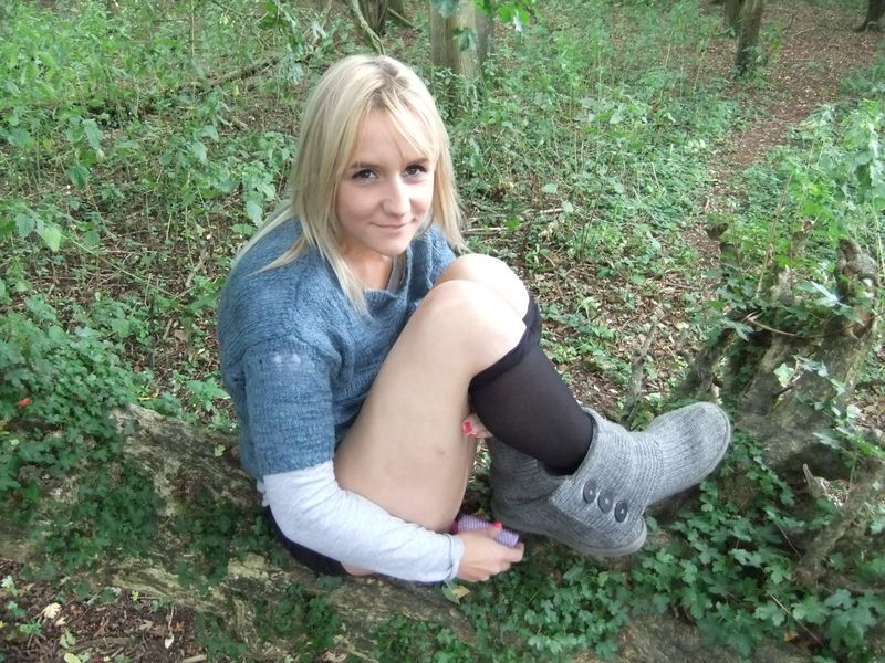 used panties best friend in the woods 56