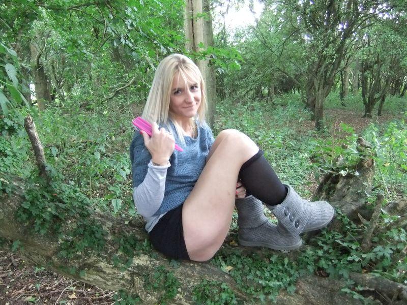 used panties best friend in the woods 58