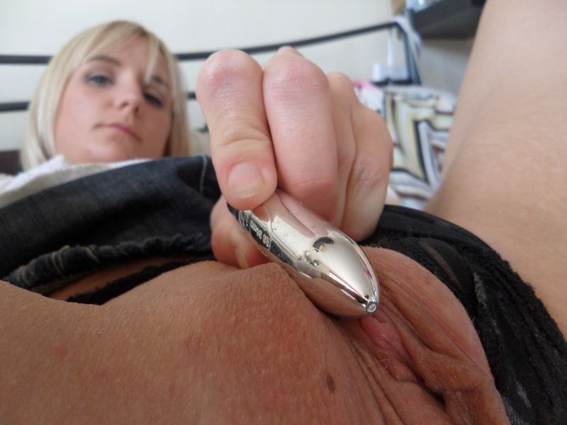 filthy knickers denim skirt glass dildo